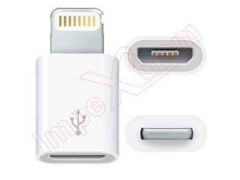 Adaptador Noosy MicroUsb A Lightning para iPhone 5, iPad 4, iPod Touch 5, iPod nano 7