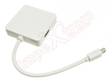 Wired displayPort with access to DVI, DisplayPort and HDMI for Macbook devices