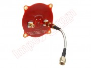 fpv-antenna-realacc-triple-feed-patch-1-5-8ghz-9-4dbi-polarized-circular-directional