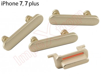 Conjunto de botones laterales dorados   para iPhone 7 / 7 Plus
