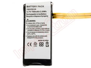 Generic battery for Apple iPod 5G video 60GB