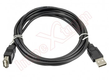 Cable Usb 2.0,  3 metros Negro, Nanocable