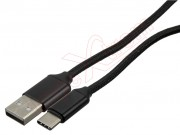 black-nylon-data-cable-with-usb-connector-to-usb-c-connector