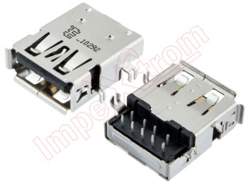 3.0 USB 4 fixed pin connector for portables 14.5 x 13 x 5.8mm