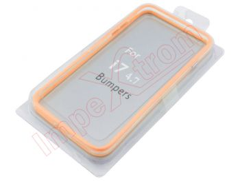 Orange bumper case for Iphone 7 4.7 inches, in blister