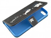 agenda-case-with-cat-fish-desing-for-apple-phone-7