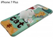 funda-tpu-verde-con-gato-3d-achuchable-para-iphone-7-plus