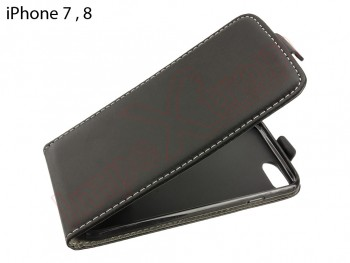 Funda vertical negra de piel sintética   para iPhone 7 para iPhone 8 de 4.7""