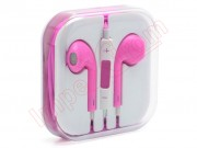 pink-hands-free-headphones-iphone-style-earpods-with-microphone-and-volume-control
